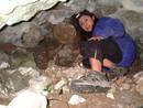 avon gorge boulder cave minerva cuevas, bristol, united kingdom (uk).