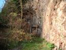 avon gorge bunker entrance distant, bristol, united kingdom (uk).
