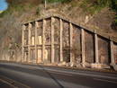 avon gorge clifton rocks railway bottom entrance, bristol, united kingdom (uk).