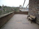 avon gorge clifton suspension bridge pier void entrance n, bristol, united kingdom (uk).