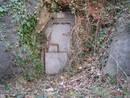 avon gorge firing range tunnel grey metal door, bristol, united kingdom (uk).