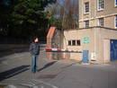 bri hospital service tunnel assembly point d manhole kayle brandon, bristol, united kingdom (uk).