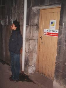bri hospital service tunnel plant room entrance kayle brandon, bristol, united kingdom (uk).