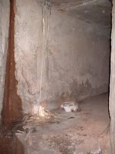 bri hospital service tunnel stalacmites stalactites, bristol, united kingdom (uk).