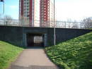 exit lawrence hill roundabout underpass, bristol, united kingdom (uk).