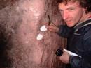 polystyrene redcliffe quarry cave, bristol, united kingdom (uk).