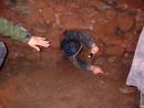 squeeze graeme hogge redcliffe quarry cave, bristol, united kingdom (uk).